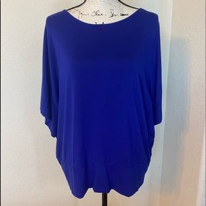 Chico's Cobalt Blue Poncho Style Top Size 3